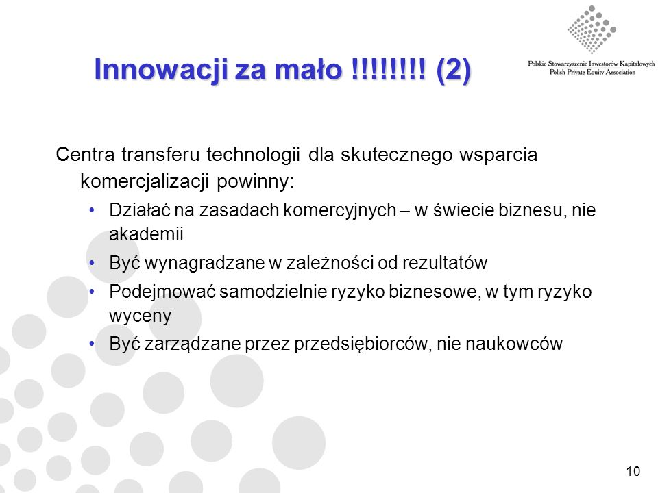 10 Innowacji za mało !!!!!!!.