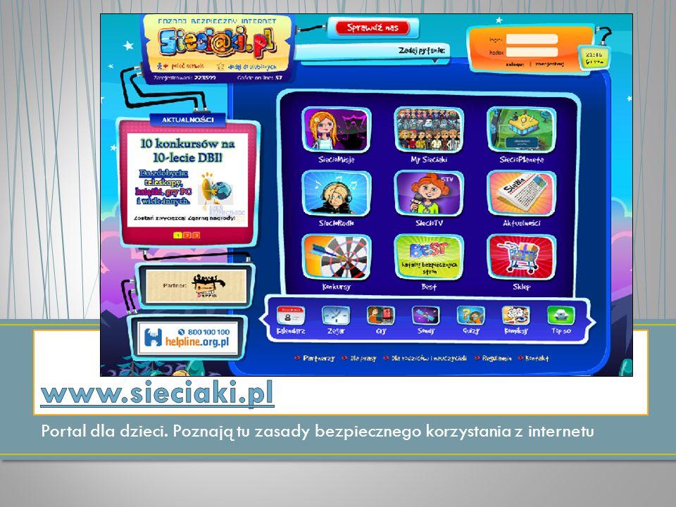Portal dla dzieci. Poznają tu zasady bezpiecznego korzystania z internetu