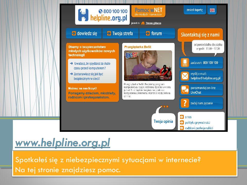 Spotkałeś się z niebezpiecznymi sytuacjami w internecie? Na tej stronie znajdziesz pomoc. Spotkałeś się z niebezpiecznymi sytuacjami w internecie? Na