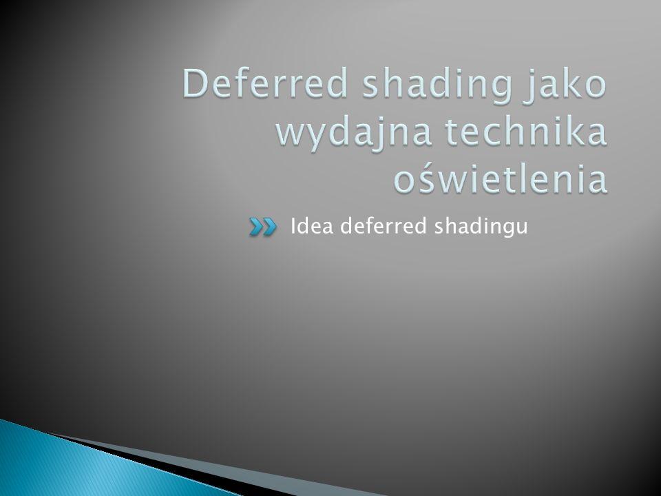 Idea deferred shadingu