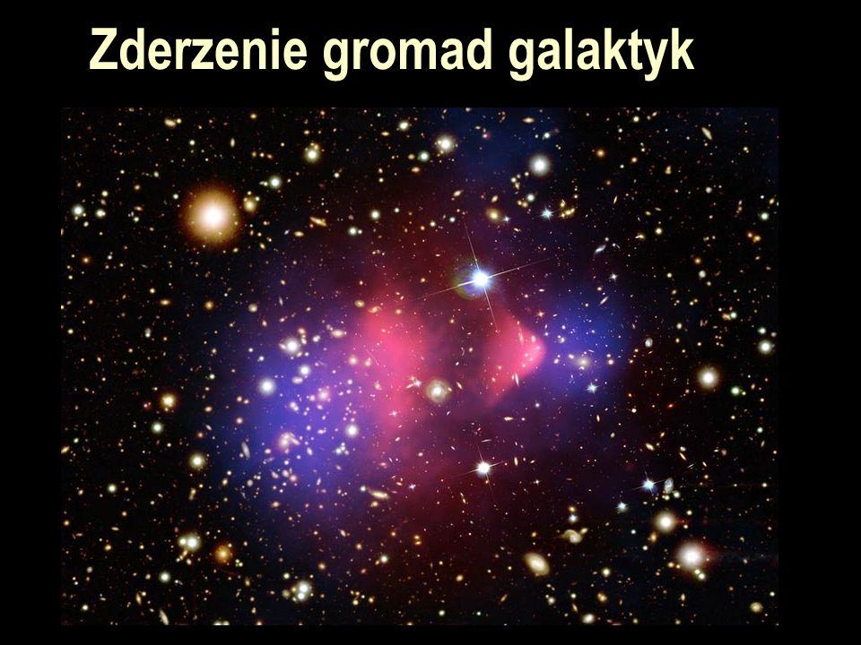 Czarne dziury Czarna dziura – obiekt, dla którego druga prędkość kosmiczna jest większa niż prędkość światła (dla Ziemi promień Schwarzschilda to 6 mm, dla Słońca 3 km) W centrum Galaktyki jest czarna dziura o masie ok.
