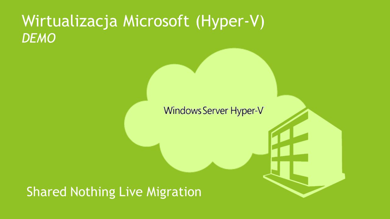Wirtualizacja Microsoft (Hyper-V) DEMO Shared Nothing Live Migration