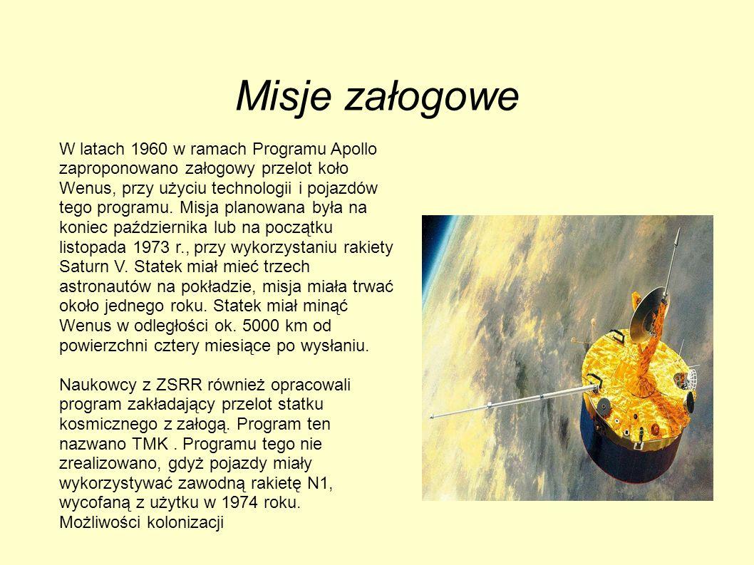 Misje załogowe W latach 1960 w ramach Programu Apollo zaproponowano załogowy przelot koło Wenus, przy użyciu technologii i pojazdów tego programu. Mis