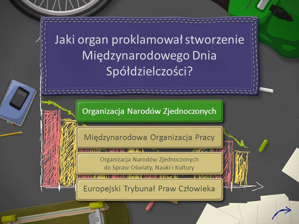 Jaki organ proklamował stworzenie Międzynarodowego Dnia Spółdzielczości.