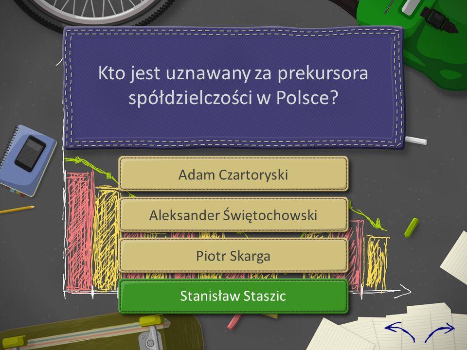 Kto jest uznawany za prekursora spółdzielczości w Polsce.