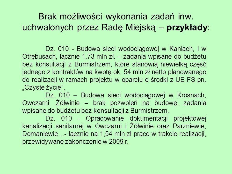 WAŻNE: Dzięki decyzji o wykonaniu dodatkowych robót na zbiornikach w Parzniewie i przy ul.