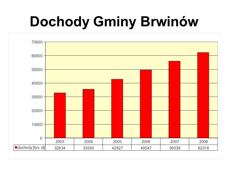 DOCHODY W 2008r. Uchwała budżetowa nr XIX/161/2008 z dnia 10 stycznia 2008 r.