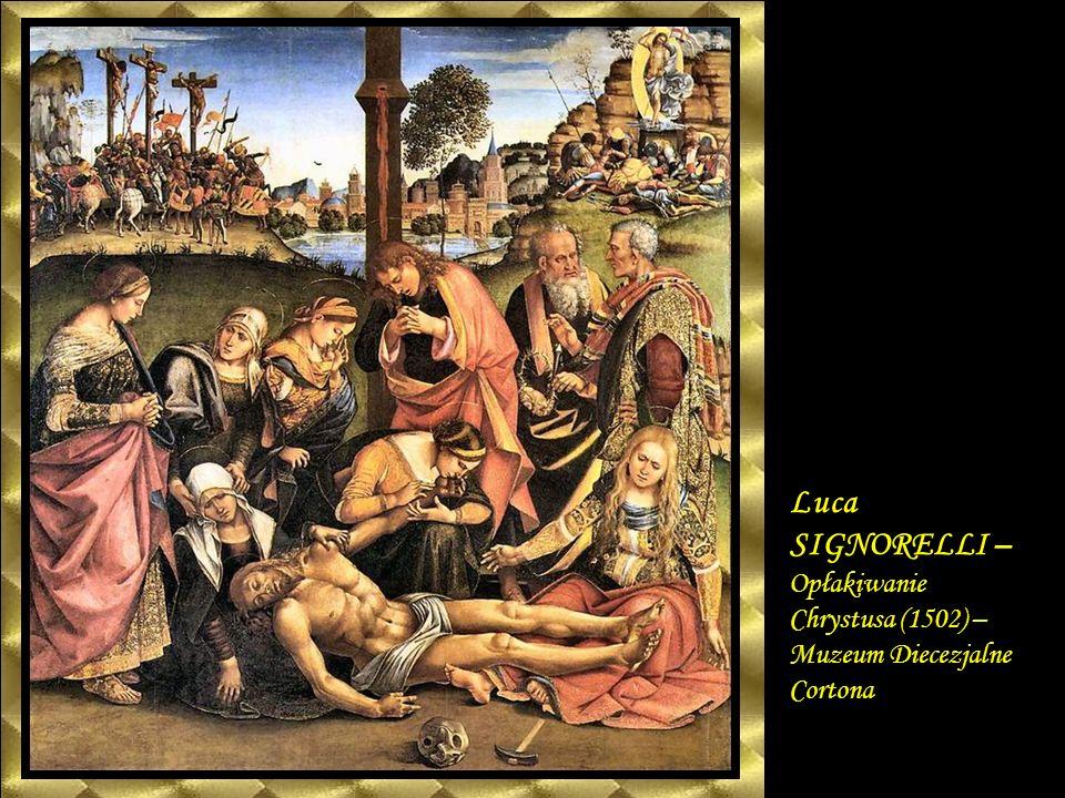 Pietro PERUGINO - Pieta (1494 – 1495) Galleria degli Uffizi Florencja