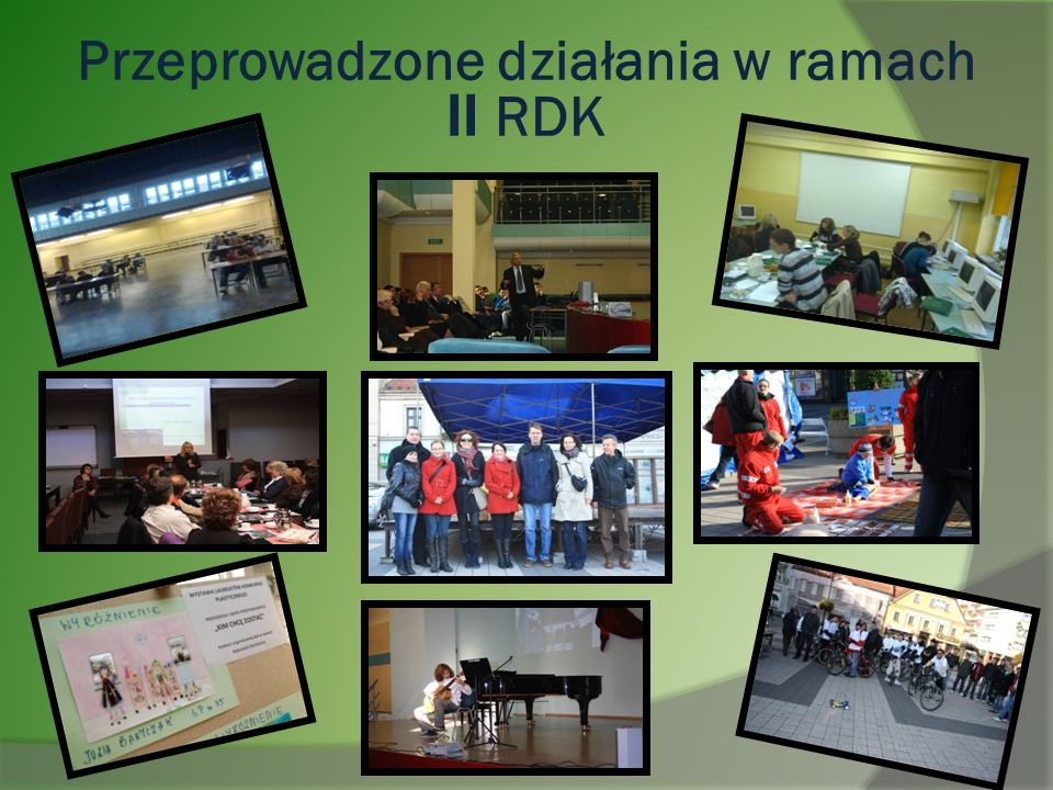 Przeprowadzone działania w ramach II RDK