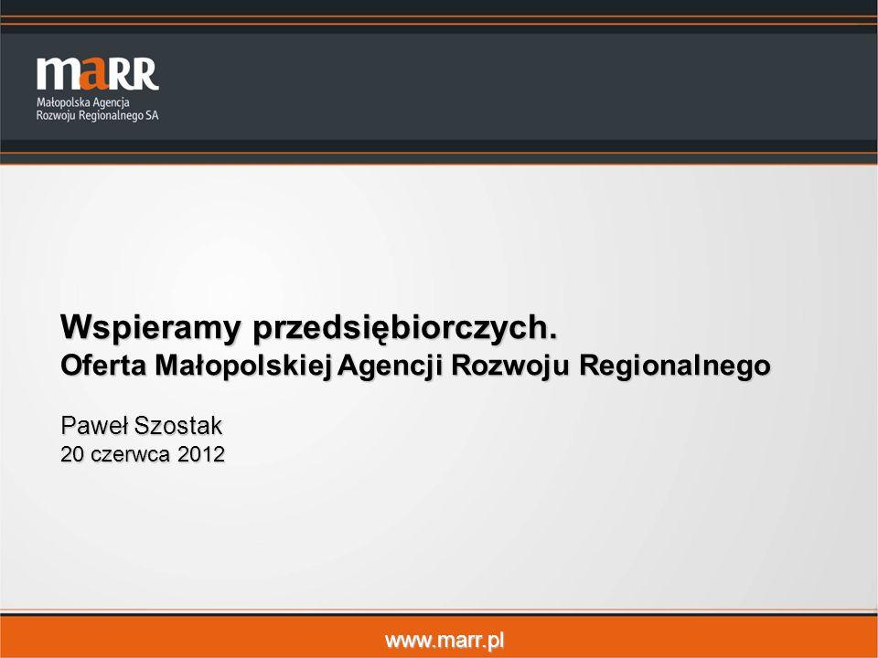 www.marr.pl Wspieramy przedsiębiorczych.