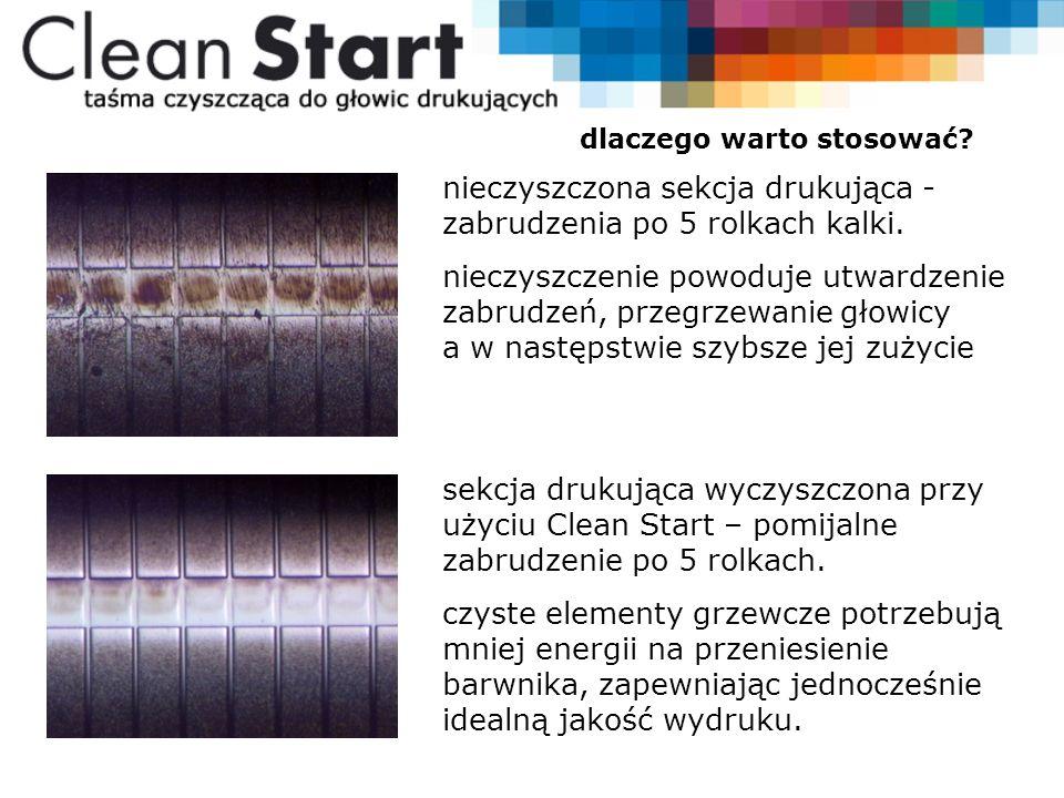 czyszczenie głowicy z użyciem Clean Start