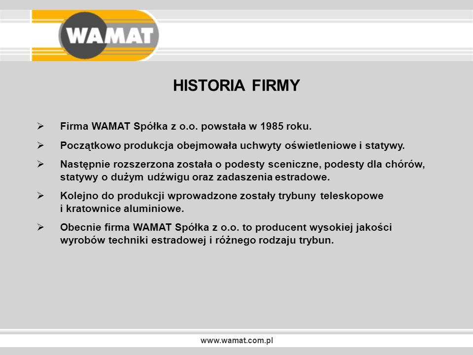 www.wamat.com.pl NASZE REALIZACJE Trybuny teleskopowe TW-2 KATOWICKI SPODEK