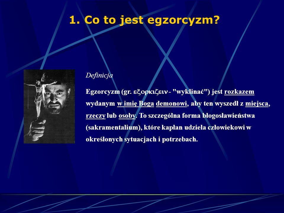 1.Co to jest egzorcyzm? 2.Kto sprawuje egzorcyzm? 3.Jak to tak naprawdę wygląda? 1.Faktyczny przebieg egzorcyzmu 2.Egzorcysta 3.Egzorcyzmy Emily Rose