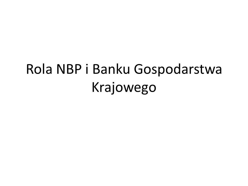 Rola NBP i Banku Gospodarstwa Krajowego