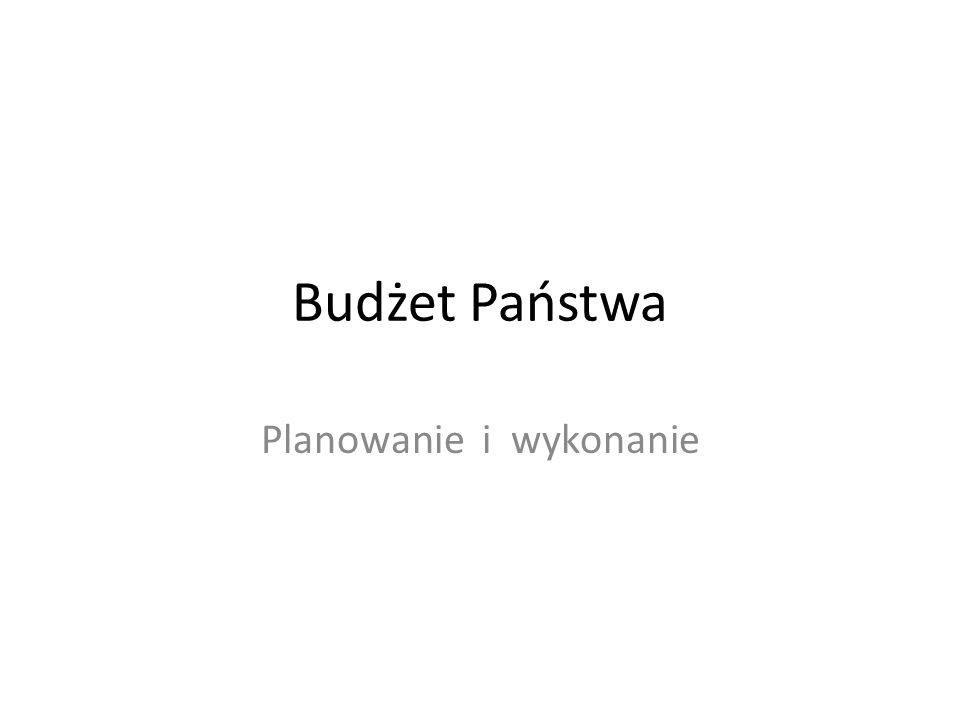 Budżet Państwa Planowanie i wykonanie