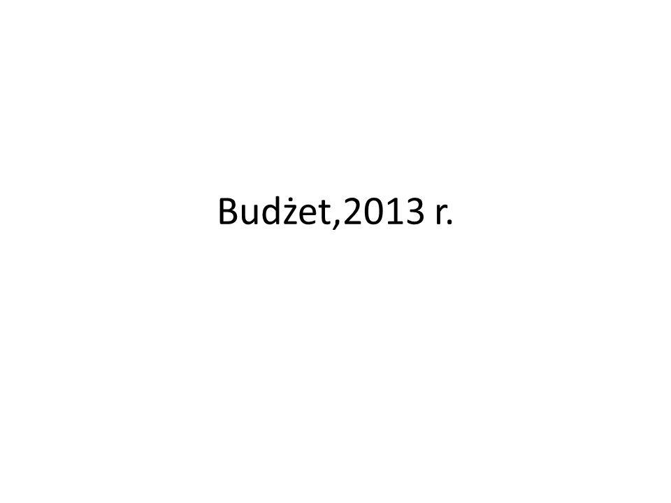 Budżet,2013 r.