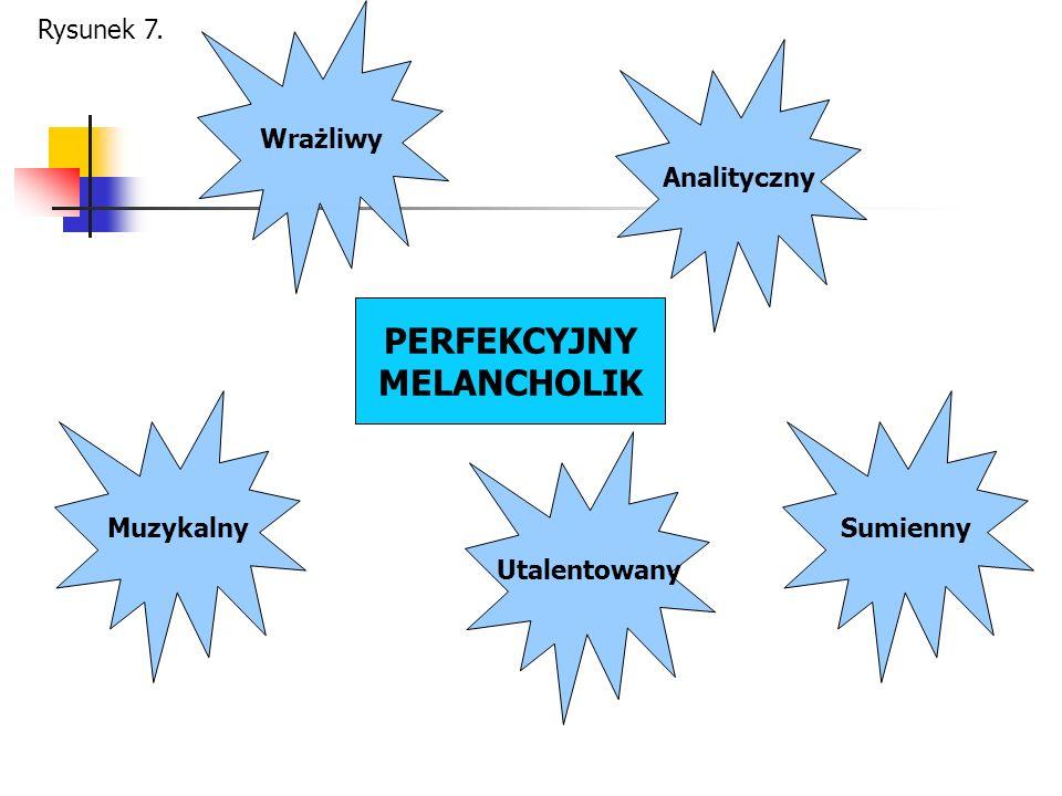 PERFEKCYJNY MELANCHOLIK Muzykalny Wrażliwy Analityczny Sumienny Utalentowany Rysunek 7.