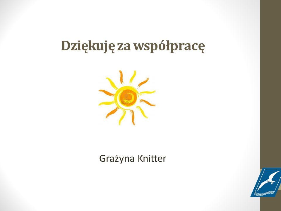 Dziękuję za współpracę Grażyna Knitter