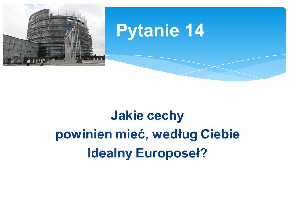 Jakie cechy powinien mieć, według Ciebie Idealny Europoseł? Pytanie 14