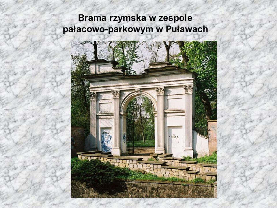 Brama rzymska w zespole pałacowo-parkowym w Puławach
