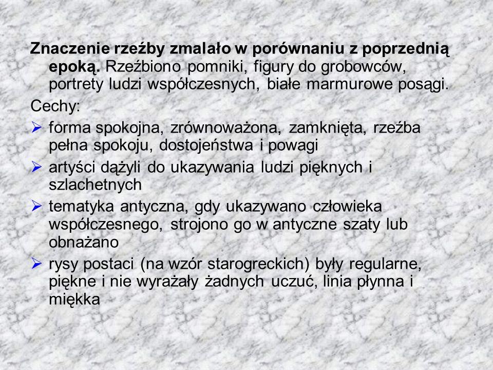 Klasycyzm w Polsce to tzw.