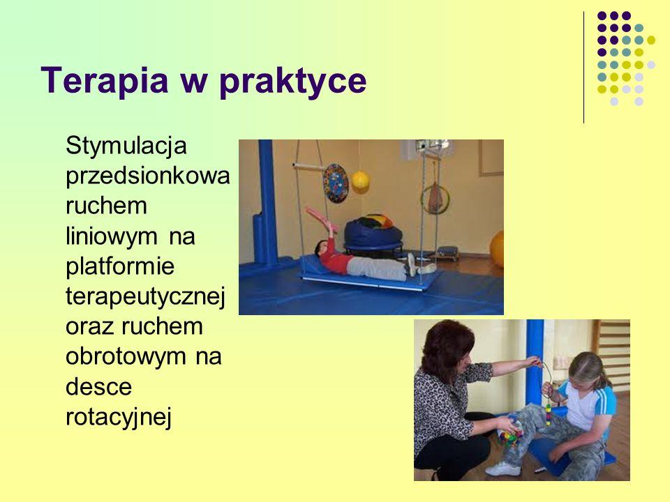 Terapia w praktyce Stymulacja przedsionkowa ruchem liniowym na platformie terapeutycznej oraz ruchem obrotowym na desce rotacyjnej