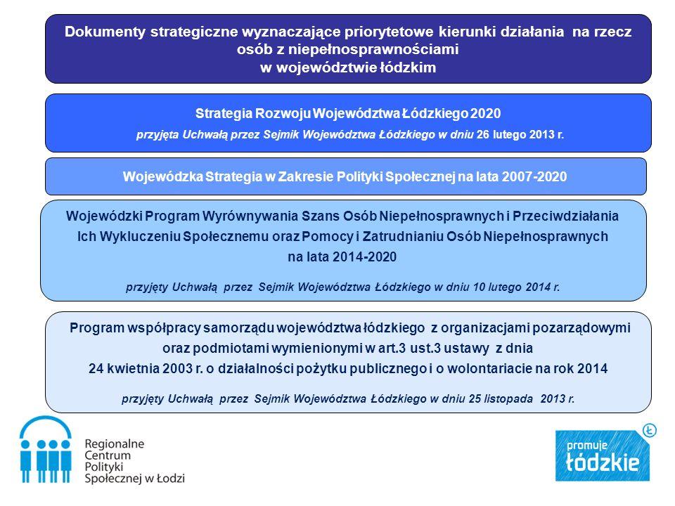 Strategia Rozwoju Województwa Łódzkiego 2020 przyjęta Uchwałą przez Sejmik Województwa Łódzkiego w dniu 26 lutego 2013 r.