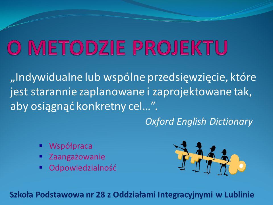 Szkoła Podstawowa nr 28 z Oddziałami Integracyjnymi w Lublinie Indywidualne lub wspólne przedsięwzięcie, które jest starannie zaplanowane i zaprojektowane tak, aby osiągnąć konkretny cel….