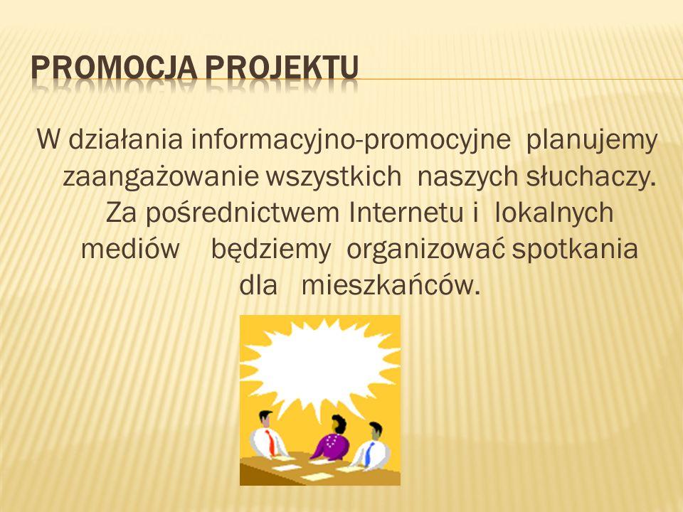 W działania informacyjno-promocyjne planujemy zaangażowanie wszystkich naszych słuchaczy.