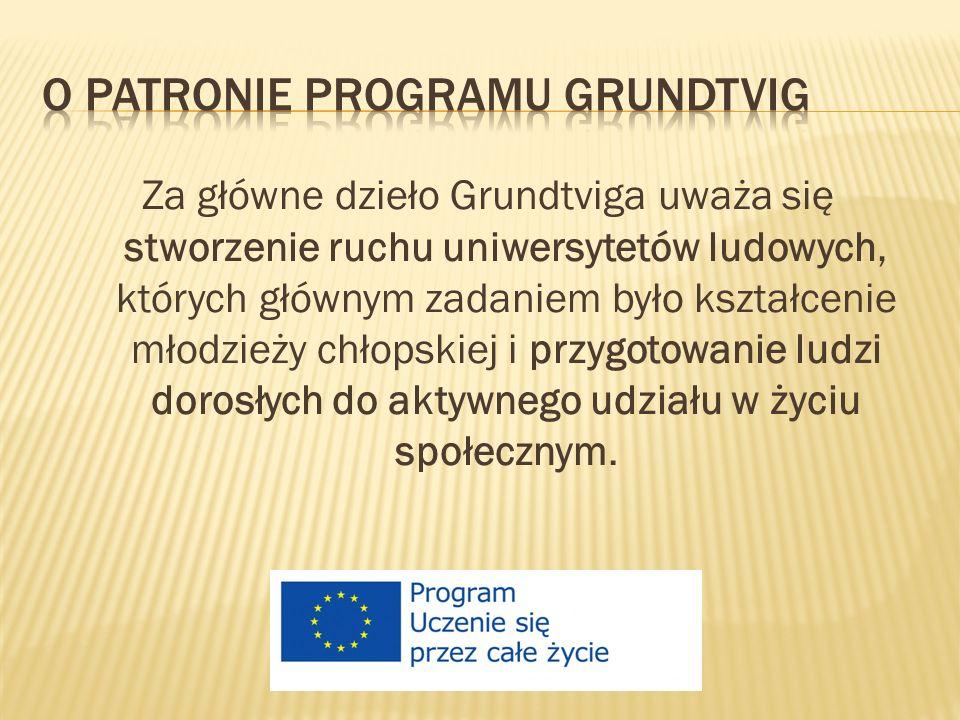 Za główne dzieło Grundtviga uważa się stworzenie ruchu uniwersytetów ludowych, których głównym zadaniem było kształcenie młodzieży chłopskiej i przygotowanie ludzi dorosłych do aktywnego udziału w życiu społecznym.