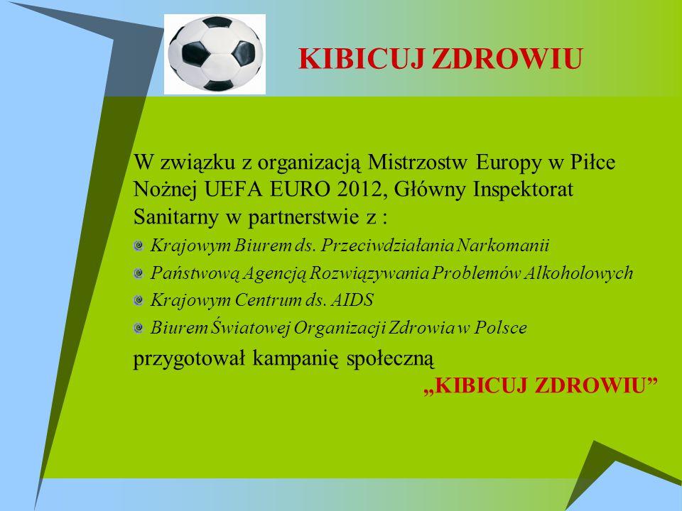 W związku z organizacją Mistrzostw Europy w Piłce Nożnej UEFA EURO 2012, Główny Inspektorat Sanitarny w partnerstwie z : Krajowym Biurem ds.