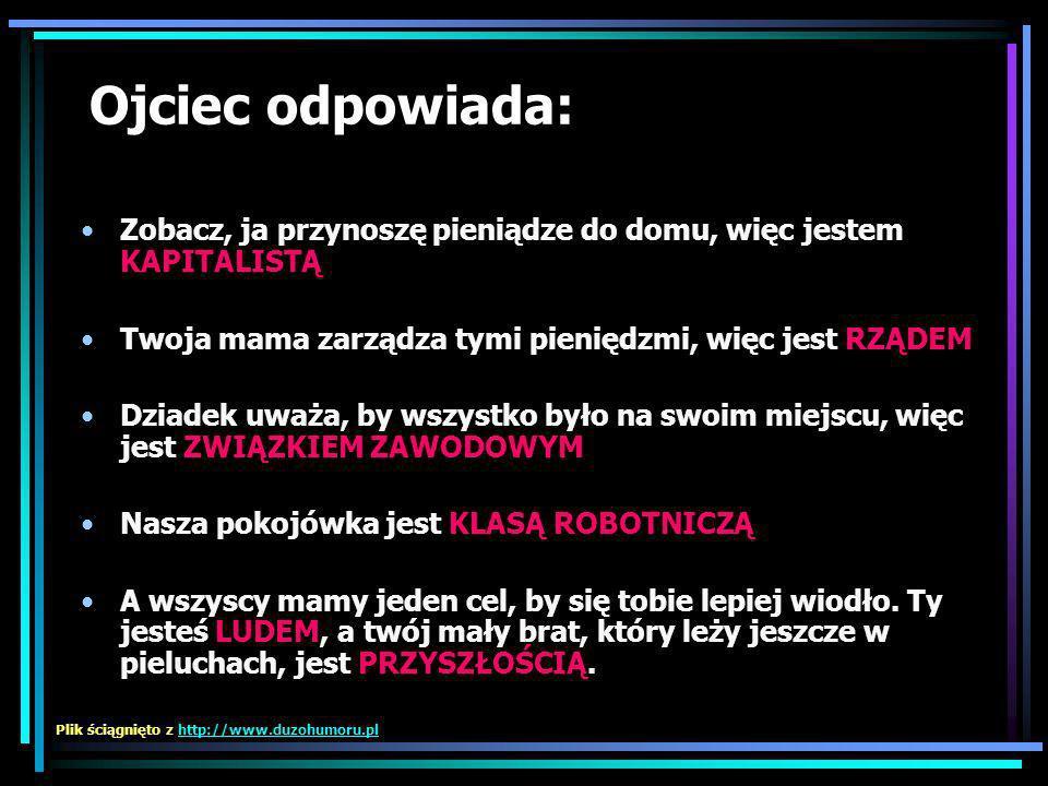 Kapitalizm wykorzystuje klasę robotniczą Związki zawodowe się temu przyglądają Podczas gdy rząd śpi Lud jest całkowicie ignorowany A przyszłość leży w gównie Plik ściągnięto z http://www.duzohumoru.plhttp://www.duzohumoru.pl