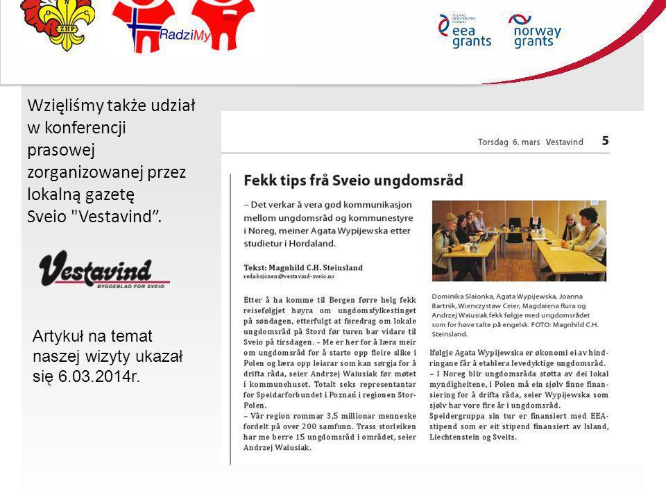 Wzięliśmy także udział w konferencji prasowej zorganizowanej przez lokalną gazetę Sveio