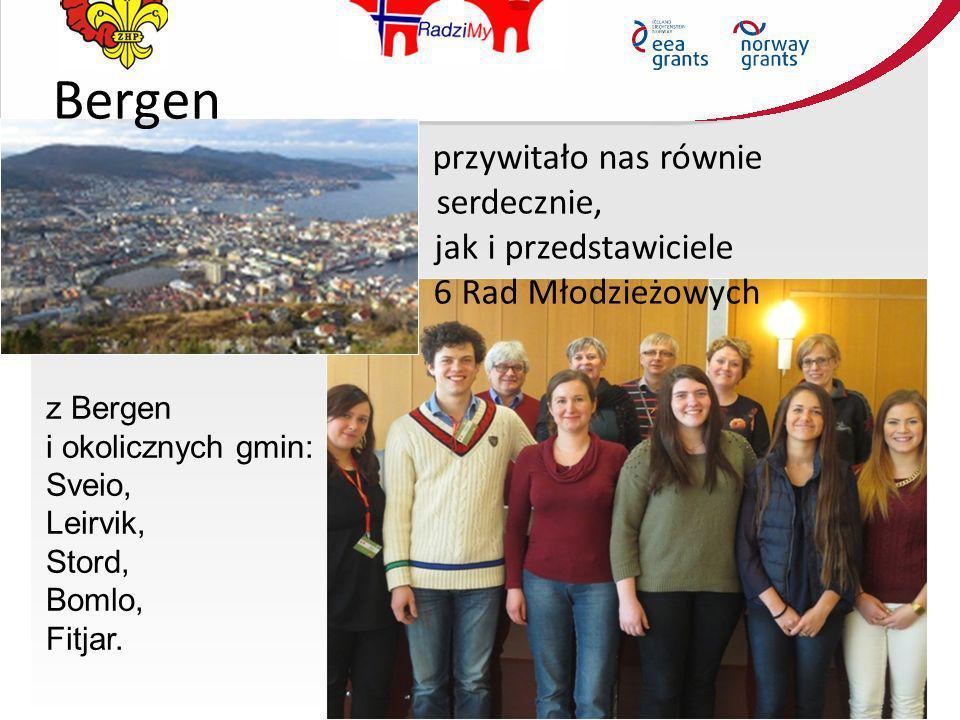 Bergen przywitało nas równie serdecznie, jak i przedstawiciele 6 Rad Młodzieżowych z Bergen i okolicznych gmin: Sveio, Leirvik, Stord, Bomlo, Fitjar.