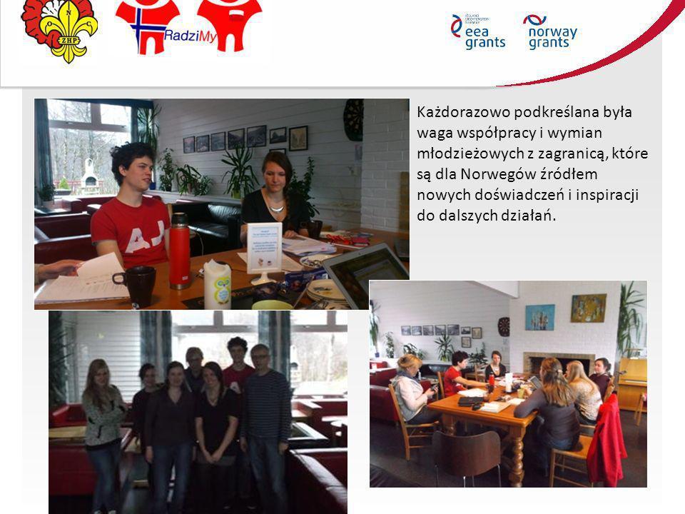 Każdorazowo podkreślana była waga współpracy i wymian młodzieżowych z zagranicą, które są dla Norwegów źródłem nowych doświadczeń i inspiracji do dals
