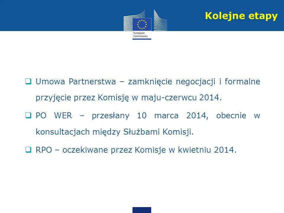 Umowa Partnerstwa – zamknięcie negocjacji i formalne przyjęcie przez Komisję w maju-czerwcu 2014.