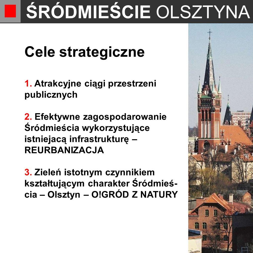 ŚRÓDMIEŚCIE OLSZTYNA Cele strategiczne 1. Atrakcyjne ciągi przestrzeni publicznych 2.