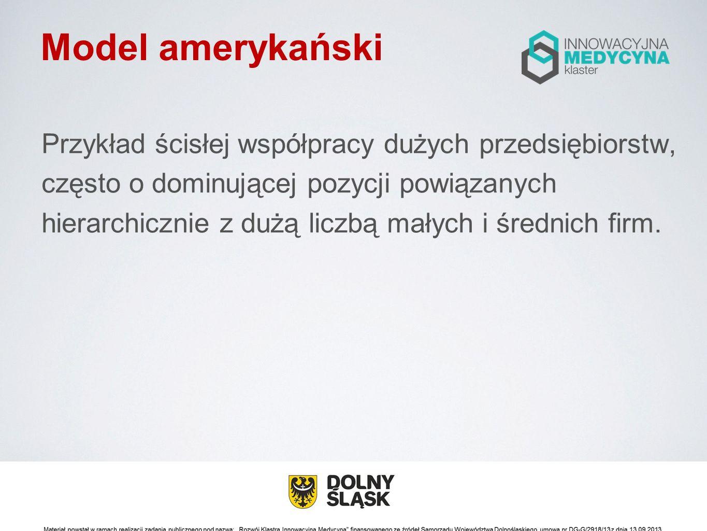 Modele rozwoju klastrów Źródło: Benchmarking klastrów w Polsce – edycja 2012.Raport z badania, red.
