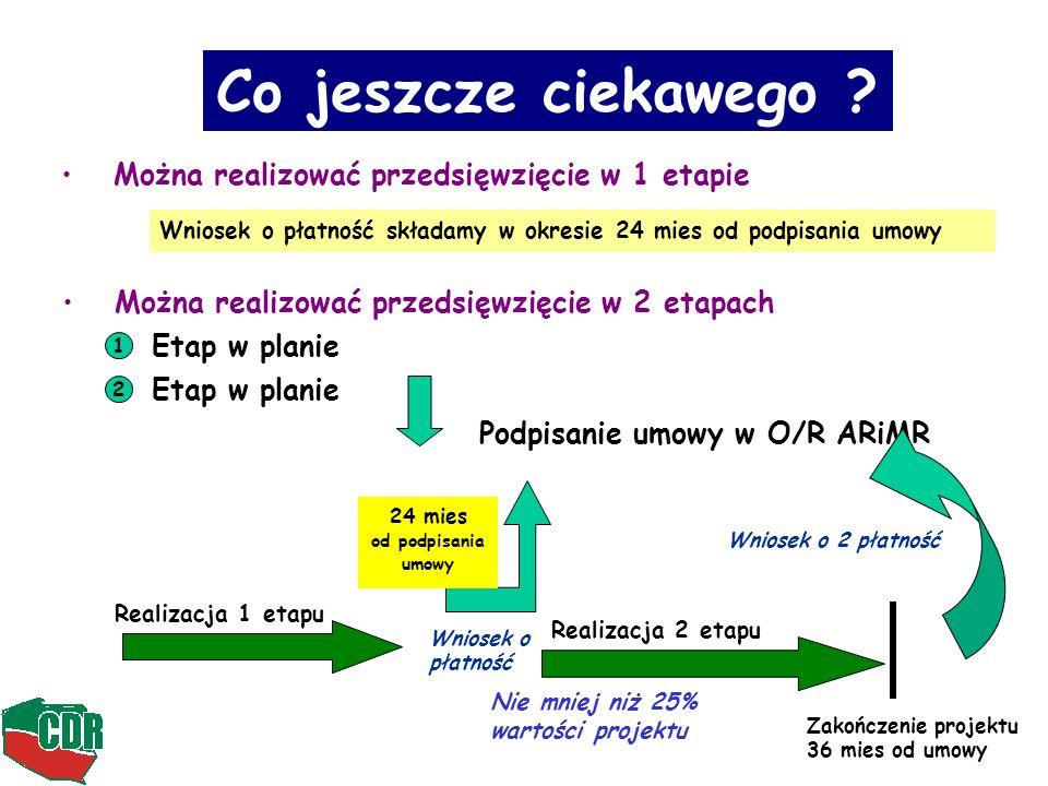Można realizować przedsięwzięcie w 2 etapach Co jeszcze ciekawego .