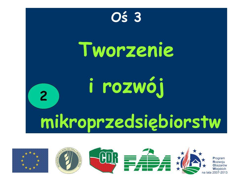 Oś 3 Tworzenie i rozwój mikroprzedsiębiorstw 2