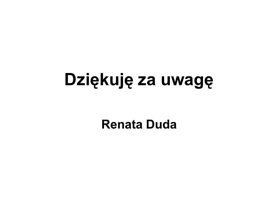 Dziękuję za uwagę Renata Duda