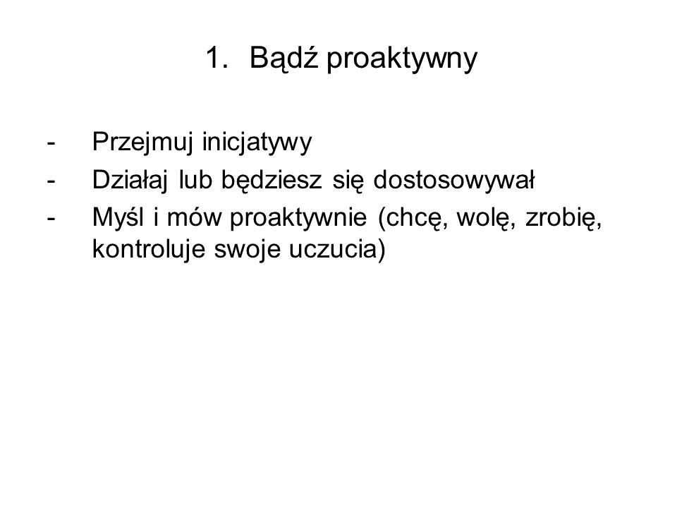 1.Bądź proaktywny 1.