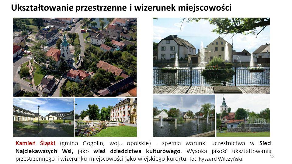 Ukształtowanie przestrzenne i wizerunek miejscowości Kamień Śląski (gmina Gogolin, woj.. opolskie) - spełnia warunki uczestnictwa w Sieci Najciekawszy