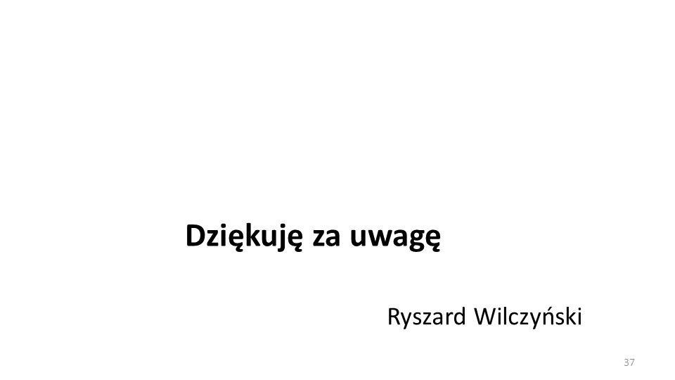 Dziękuję za uwagę Ryszard Wilczyński 37