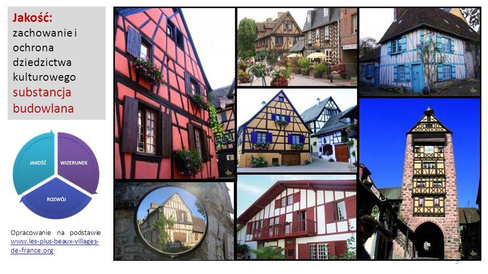 Opracowanie na podstawie www.les-plus-beaux-villages- de-france.org www.les-plus-beaux-villages- de-france.org Jakość: zachowanie i ochrona dziedzictw