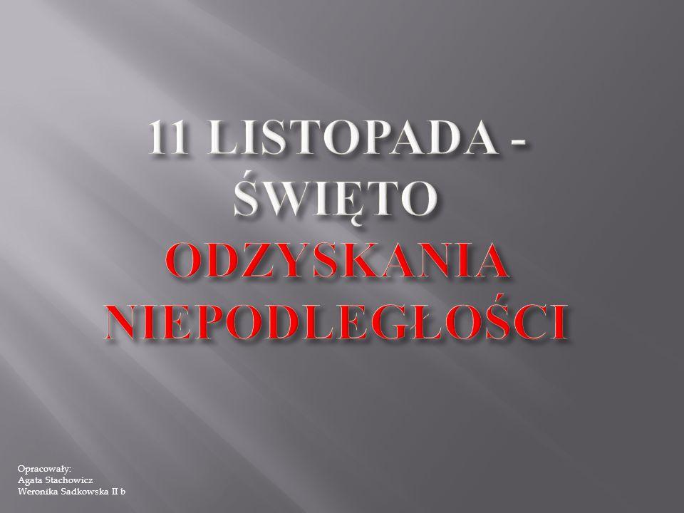 Opracowały: Agata Stachowicz Weronika Sadkowska II b