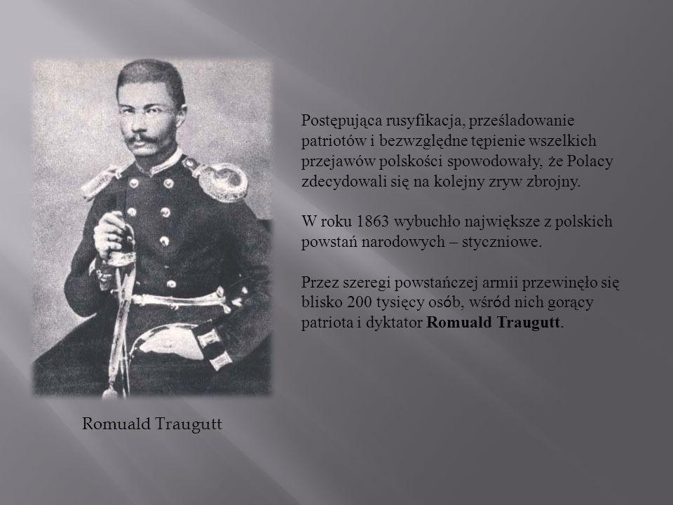 Postępująca rusyfikacja, prześladowanie patriotów i bezwzględne tępienie wszelkich przejawów polskości spowodowały, że Polacy zdecydowali się na kolejny zryw zbrojny.