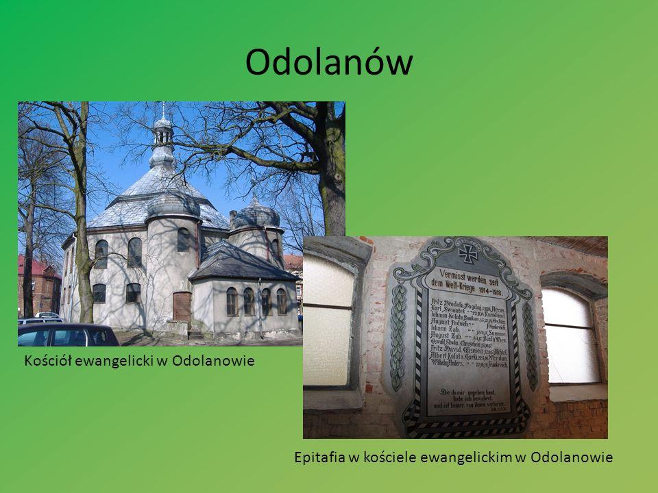 Odolanów Kościół ewangelicki w Odolanowie Epitafia w kościele ewangelickim w Odolanowie