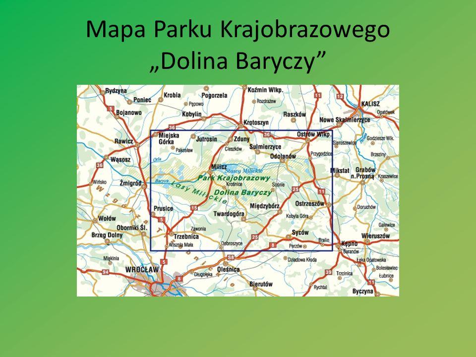 Mapa Parku Krajobrazowego Dolina Baryczy