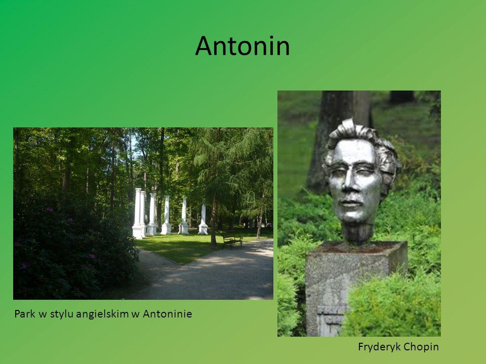 Fryderyk Chopin Park w stylu angielskim w Antoninie